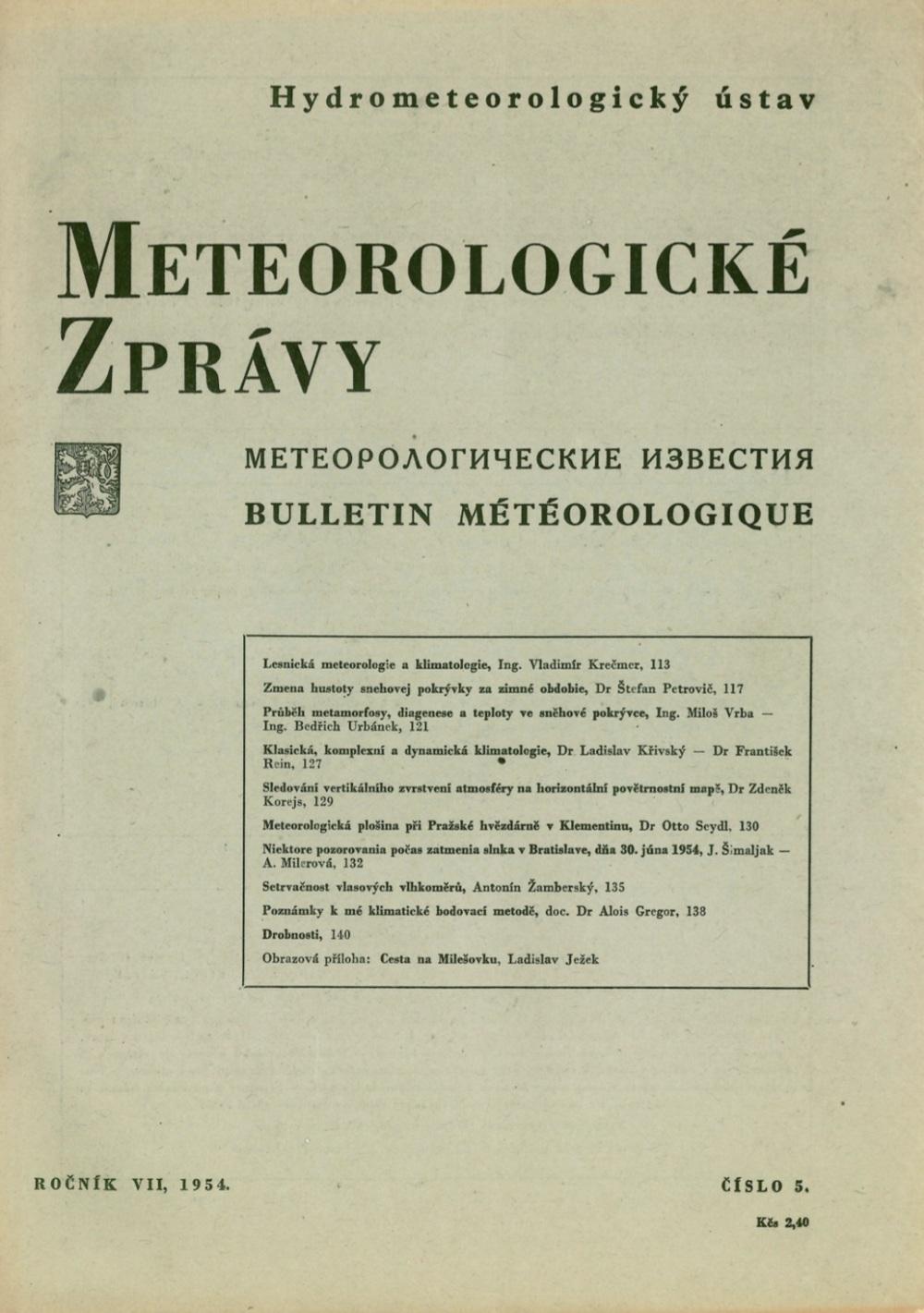 meteo správy